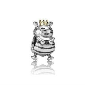 Queen Bee Pandora Charm Silver & 14K gold